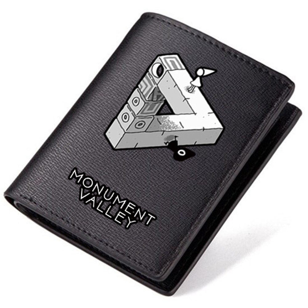 Wallet monument valley black pu purse gifts for children carteira boys and girls wallets china