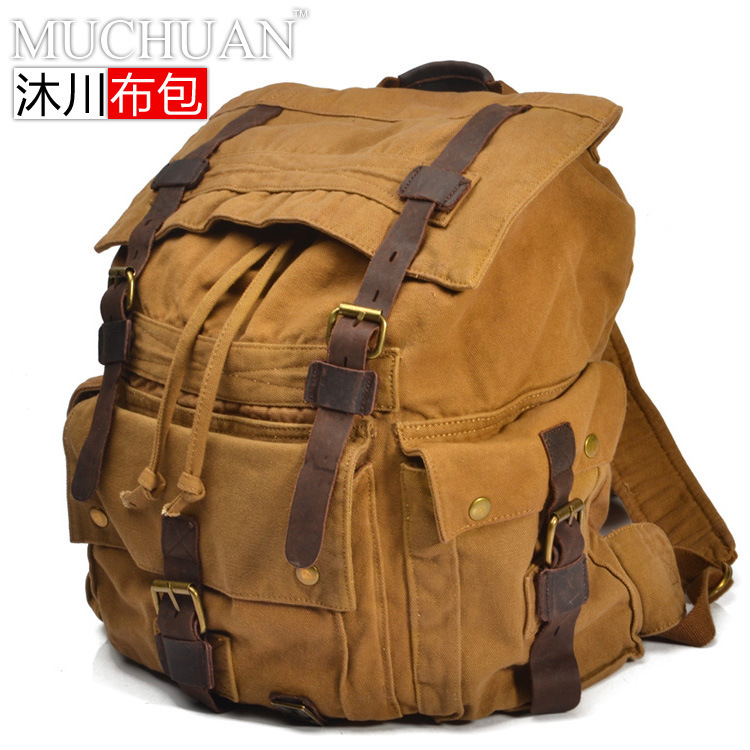 Muchuan MUCHUAN European Restore Ancient Canvas Tourism Both Package Travel Backpack Super Capacity Tide Men And Package tourism cluster competitiveness and territorial development