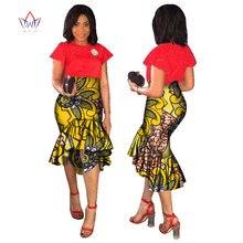 2018 discount fashion Summer part midi skirt Maxi for Women Dashiki African Print none Mid-calf Bazin date cotton natural WY1762