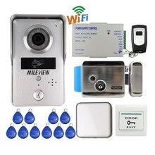 Mileview ик беспроводного доступа wi-fi камера видео домофон домофон для смартфон удаленного просмотра разблокировки электрический замок бесплатная доставка