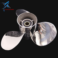 Stainless Steel Propeller 11 3 8x12 G Boat Engine For Yamaha 40HP 50HP Outboard Motor 11