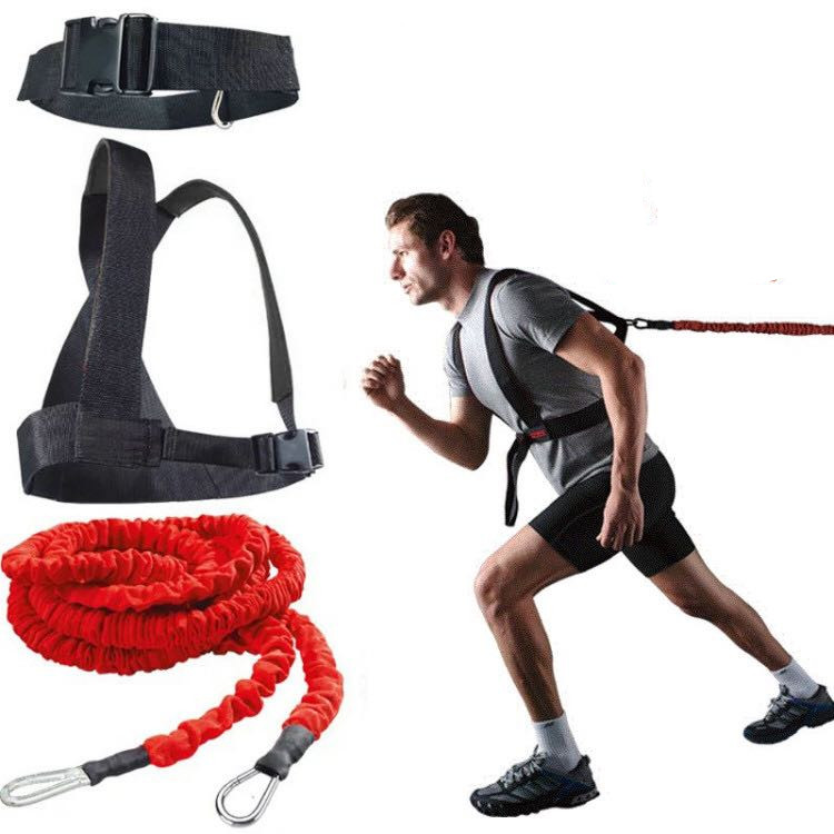 17ft Lightning Cord Dual Resistance Bungee Band Trainer Power Speed - Fitness y culturismo
