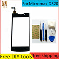 Free DIY Tools+New Touch Screen for Micromax D320 d 320 Glass Capacitive sensor for Micromax D320 d 320 Touch Screen panel Black