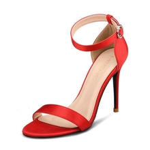 2019 New Style Women Sandals Fashion Solid Summer Shoes Big Size 34-46 Elegant Party Wedding Shoes Sexy High Heel Shoes H0042 memunia new women sandals sexy thin heel summer shoes simple pu buckle fashion shoes big size 33 47 red party wedding shoes