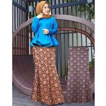 Модные длинные исламские юбки длинная юбка с бронзовым рисунком