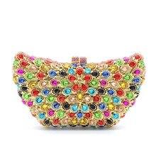 Women Diamond Gemstone Evening Party Clutch Bag Luxury Ladies Handbag Purse