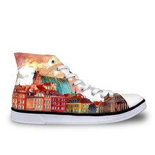 Casual Shoes Custom Paintings Art Vintage Style Canvas