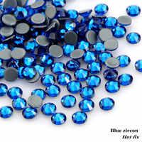 QIAO SS16-SS30 (3.8 millimetri-6.5 millimetri) blu Zircone/Capei blu Ferro Sul Posteriore Piana Cristalli di Pietra Pietre Strass Hotfix