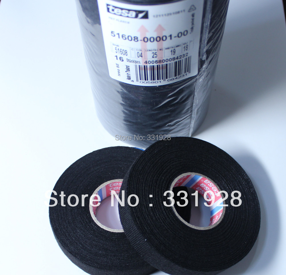 Tesa 51608 Fleece Wire Cable Harness Tape 19mm x 25M Wiring Looms 1 Roll