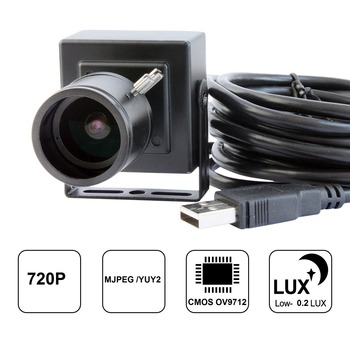 1280 * 720P HD 1.0MP mini CMOS usb Camera with 2.8-12mm manual varifocal zoom lens ,Plug and Play With bracket. Free shipping