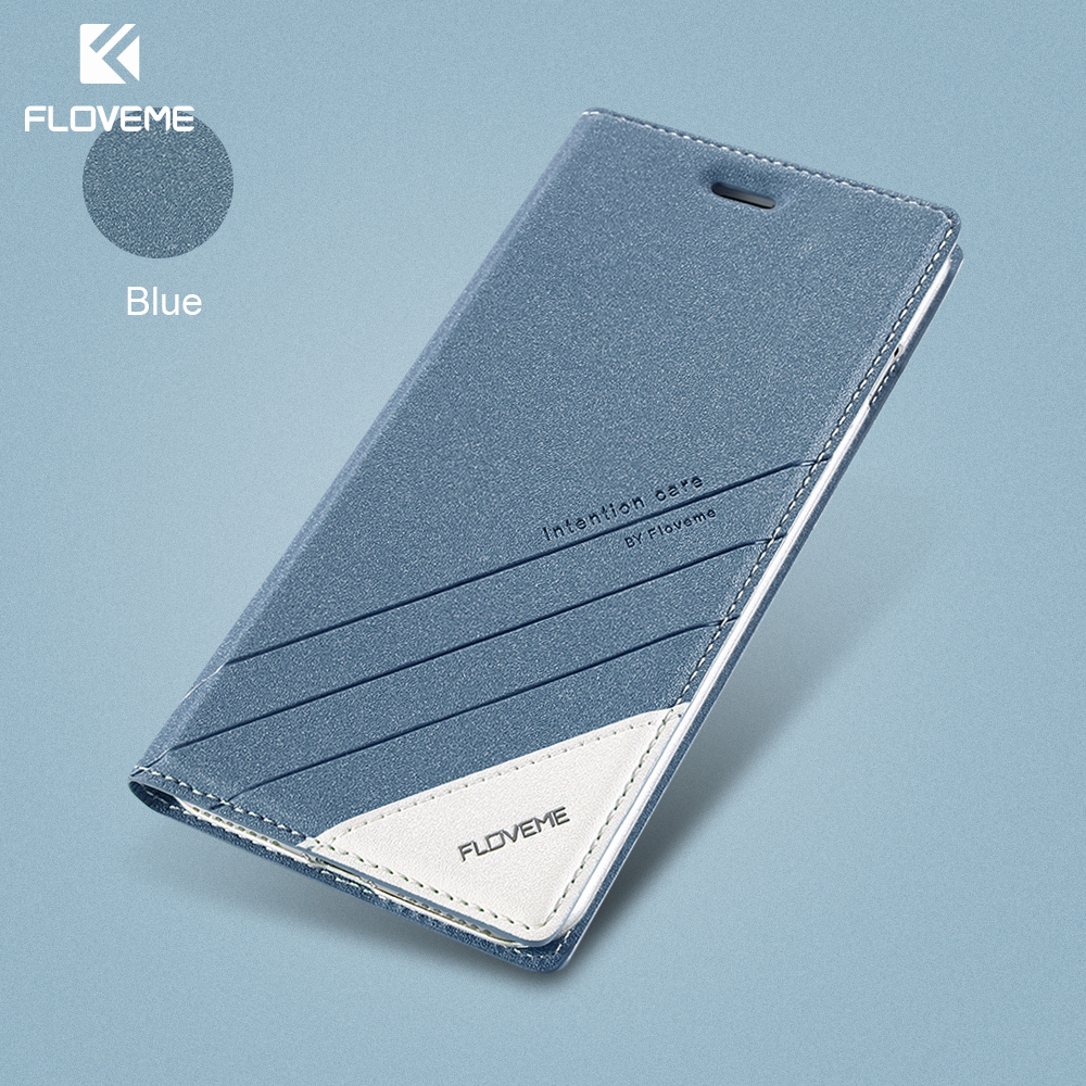 FLOVEME Case For IPhone 5 5S SE IPhone 8 Case Luxury Brand Flip Card Slot Leather Coque Phone Cover For IPhone X 7 6 6S Case