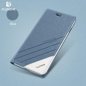 Image 1 - Чехол FLOVEME для iPhone 5 5S SE, чехол для iPhone 8, роскошный брендовый кожаный чехол с откидной крышкой и отделением для карт, чехол для телефона iPhone X, 7, 6, 6S, чехол