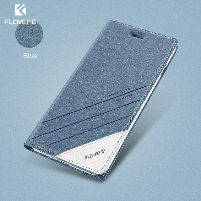 حافظة لهاتف iPhone 5 5s SE iPhone 8 من FLOVEME حافظة جلدية فاخرة مزودة بفتحة لبطاقة الفليب لهاتف iPhone X 7 6 6S