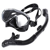 WHALE Safe Professional Diving Silicone Mask Snorkel Durable Wear Resistant Diving Mask Set Soft Comfortable