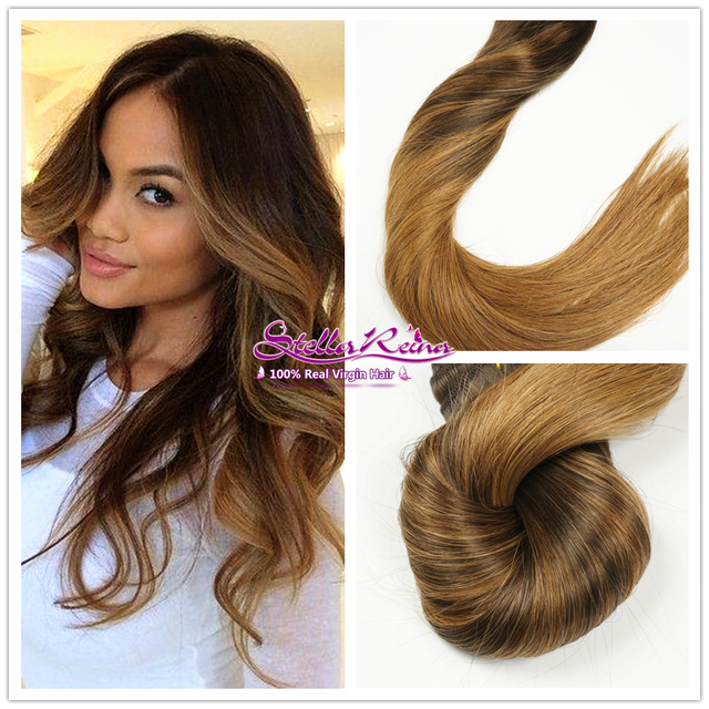 Stella Reina Trends Chestnut Brown Ombre Balayage Highlights Hair