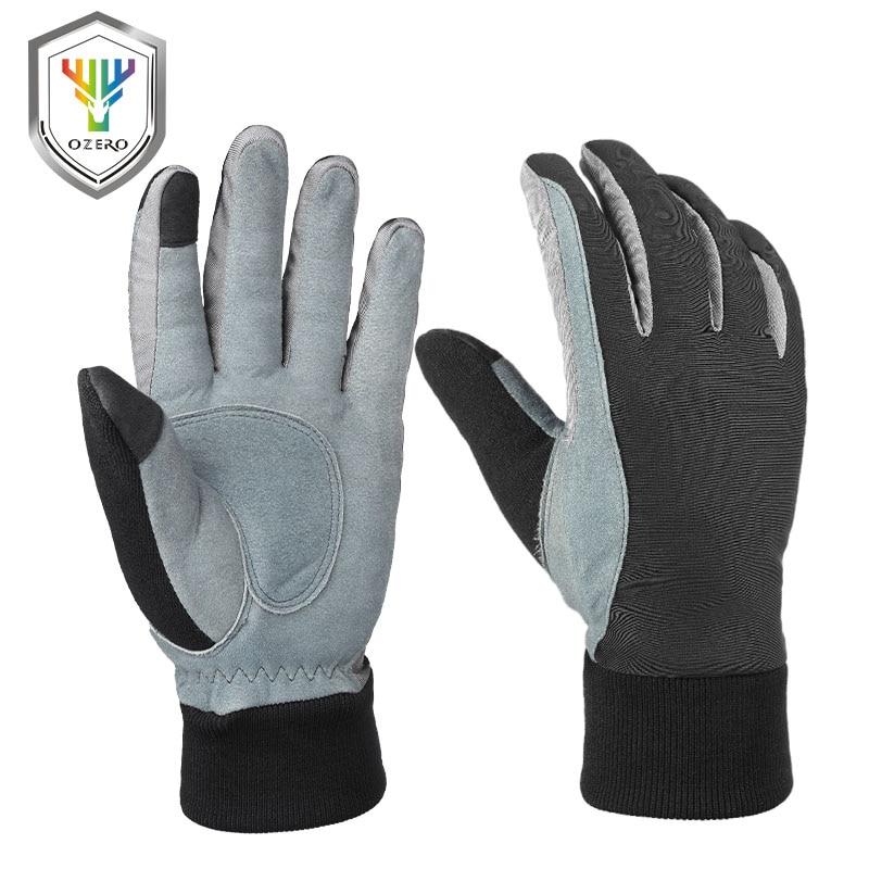OZERO Winter Warm Men's Gloves Work Driver Windproof TPU