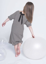 New striped casual girls dress straight bow dresses girls clothes for 4-9T babys