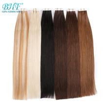 Лента в человеческих волос дважды обращается Реми ленты в бразильском прямые волосы на клей 20 шт./компл. невидимка для волос