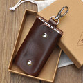 2017 New Arrival Genuine Leather Men's Key Case Wallet Fashion Quality Housekeeper Keys Bags Wallets Valentine's Gift TCKW08