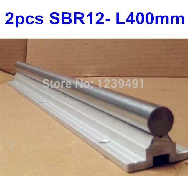 2pcs/lot SBR12 L400mm Linear rail cnc parts цена и фото