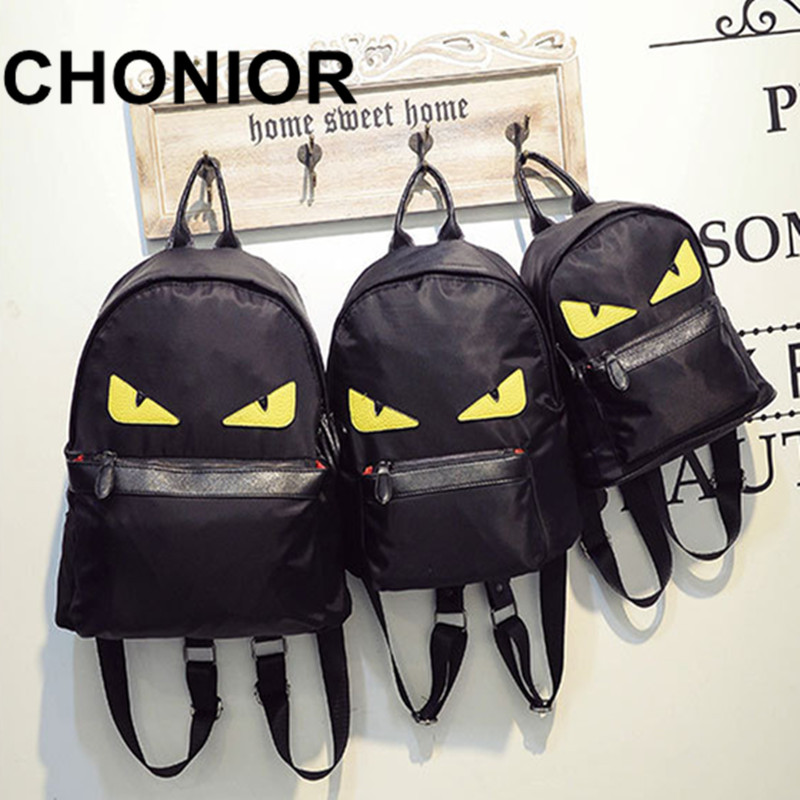 Women Leather Monster Backpacks Girls Fashion Printing Back Pack School Bags For Teenagers Travel Schoolbag Backpack Mochila