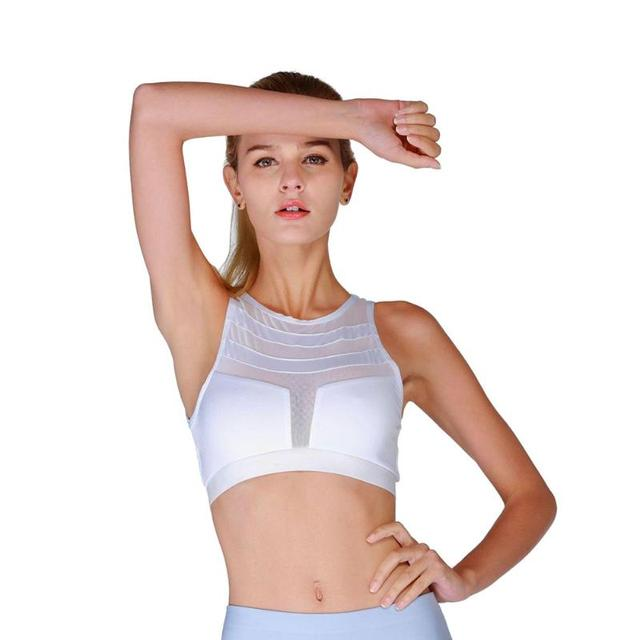 e425625a81 Sexy Backless Sports Bra Top Fitness Bras Women Strappy Brassiere Quick Dry Vest  Gym Padded Yoga Bras Push up Running Underwear
