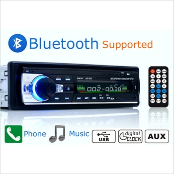 New Car Radio Stereo Player Bluetooth AUX-IN MP3 FM/USB/1 Din/remote Control For Iphone 12V Car Audio Auto Support Smartphone image