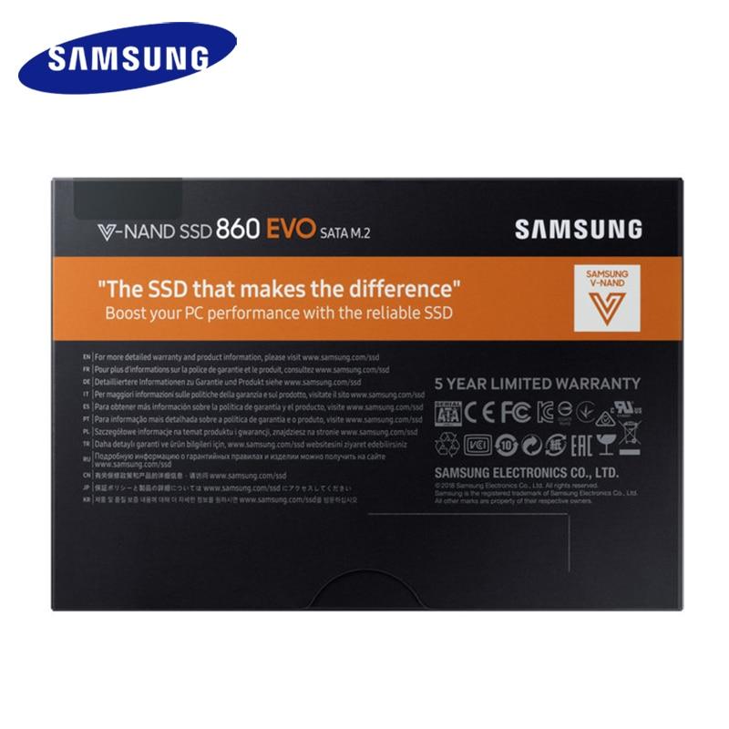 Samsung Internal SSD 860 EVO M.2 250GB 500GB 1TB 2T Solid State Drive HDD Hard High Speed for Laptop PC Computer Desktop 5