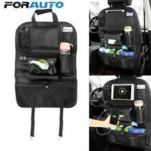 Заднем сиденье автомобиля сумка для хранения с USB Зарядное устройство закладочных уборки багажник Организатор напиток ткани телефон Pad держатель карманы автомобильные аксессуары