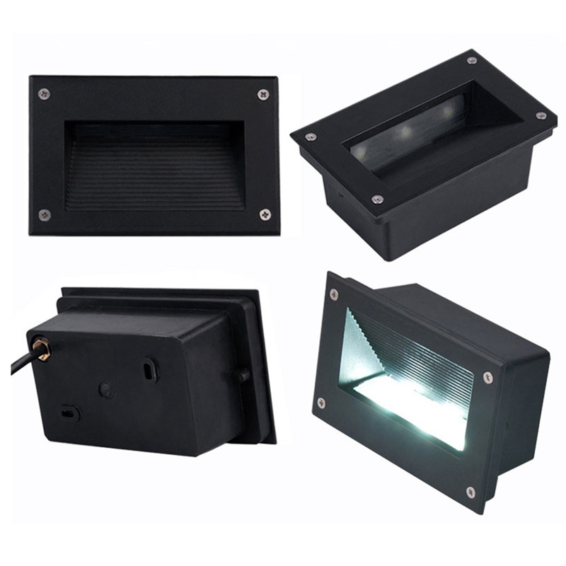 official photos f66cf 65eb4 US $196.56 22% OFF|Free Shipping (12pcs/Lot) Interior Recessed 9W LED Step  Lights LED Wall Lights Square Led underground light AC85 265V-in LED ...