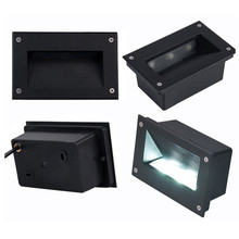 Free Shipping (12pcs/Lot) Interior Recessed 9W LED Step Lights Wall Square Led underground light AC85-265V