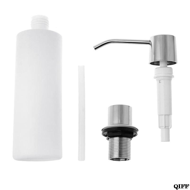 300ml Soap Dispenser Built-In Installation Lotion Pump Liquid Detergent Organizer Plastic Sanitizer Container Jun13