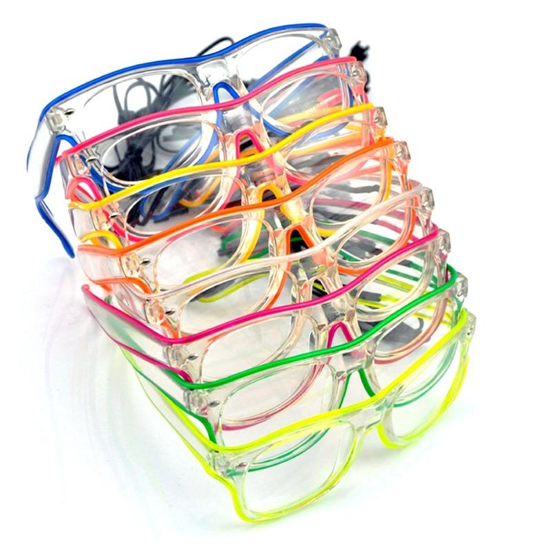 Novelty Toy Glasses Light Luminous Fluorescence Glasses LED Color Random Glow Sticks Party Flashing