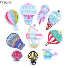 Prajna Embroidery Patch Rainbow Hot Air Balloon Fan Dream Catcher Iron On Patchwork Unicorn Patches Cute Embroidered Cloth Decor(China)