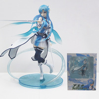 Anime Sword Art Online Sao Yuuki Asuna 1/7 Scale Painted PVC Action Figure Collection Model Toys Doll 23cm