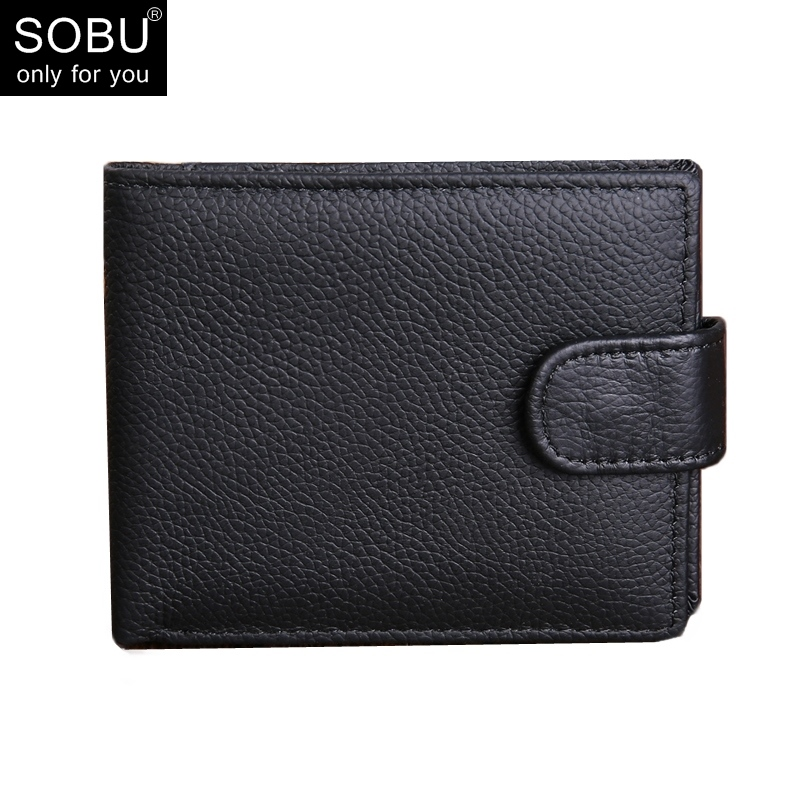 New Genuine Leather Men Wallets Brand Design Wallets With Coin Pocket Purses Gift For Men Card Holder Bifold Male Purse N080 цена и фото