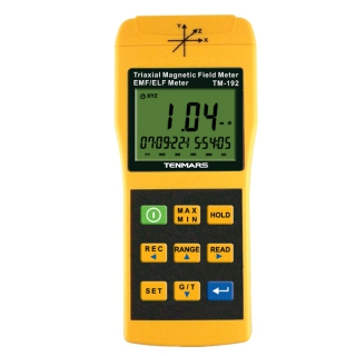 где купить TENMARS TM-192D 3-Axis EMF Electromagnetic Magnetic Field Gauss Meter EMF 30~2000HZ with datalogger дешево