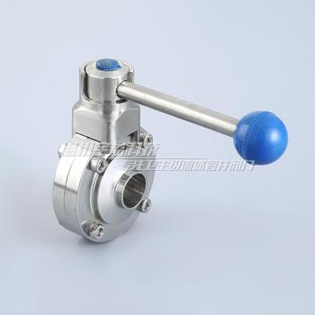 1'' 25mm Sanitary Stainless Steel Tri Clamp Butterfly Valve - Pull Trigger Manual welder butterfly valve D61 цена 2017