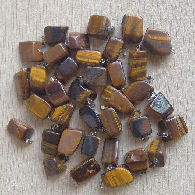 Commercio all'ingrosso 50 pz/lotto 2017 di vendita caldo trendy Assortiti pietra Naturale Misto forma Irregolare dei pendenti di fascini dei monili di Trasporto libero