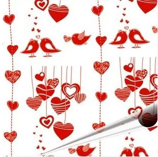 Valentine Lov Birds Pattern Chocolate Transfer Sheets Edible Paper