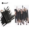 Pincéis de maquiagem 20 Pcs Sombra de Olho Batom Delineador Escovas Professional Make up Brush Set kit de Ferramentas Conjunto de Ferramentas de Cosméticos Maquiagem
