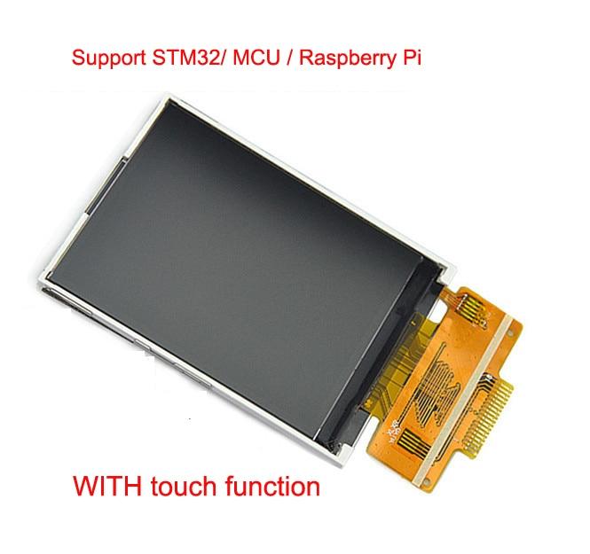 2.4 cal TFT SPI ekran LCD 18PIN 240*320 TFT 2.4 kolorowy wyświetlacz LCD napęd IC ILI9341 4IO dla STM32 /MCU/Raspberry Pi z dotykowym/nie dotykowy