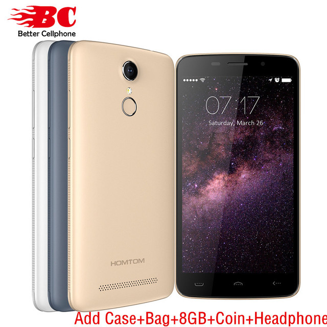 "Presale Original HOMTOM HT17 4G LTE Mobile Phone MTK6737 Quad Core 5.5"" 1GB RAM 8GB ROM 1280x720 Android 6.0 13.0MP Fingerprint"