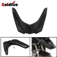 Black Motorcycle Front Fender Beak Extension Extender Wheel Cover Cowl For BMW R1200GS LC 2013 2014
