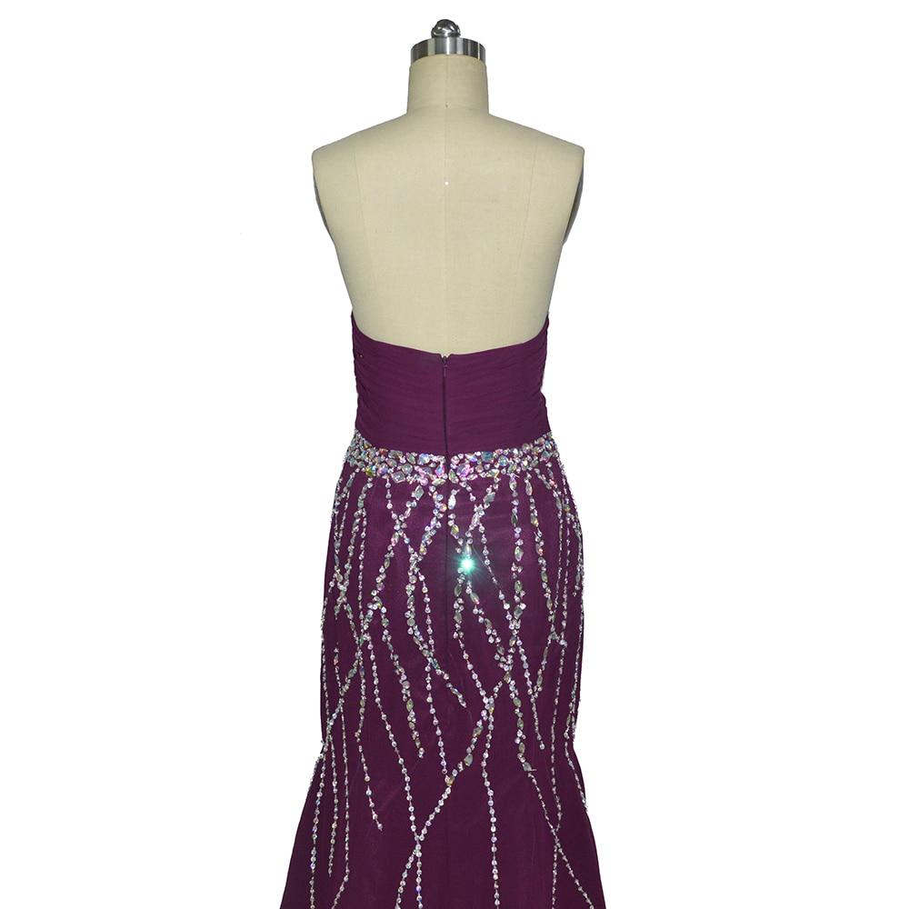 Fantastische nieuw ontworpen lieverd zeemeermin paarse prom dresses - Jurken voor bijzondere gelegenheden - Foto 4