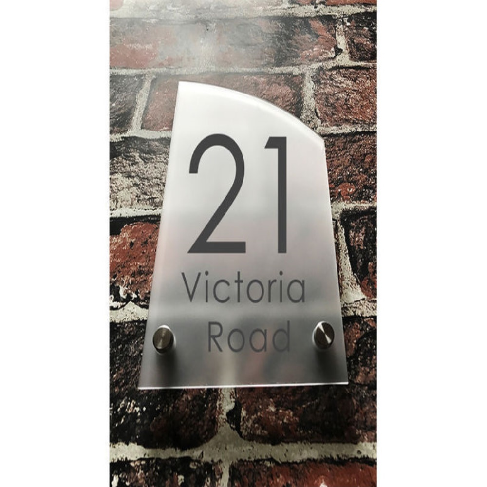 Custom Acrylic Frosted House sign modern number name plaque 200x140mm Home custom acrylic frosted house sign modern number name plaque 200x140mm home