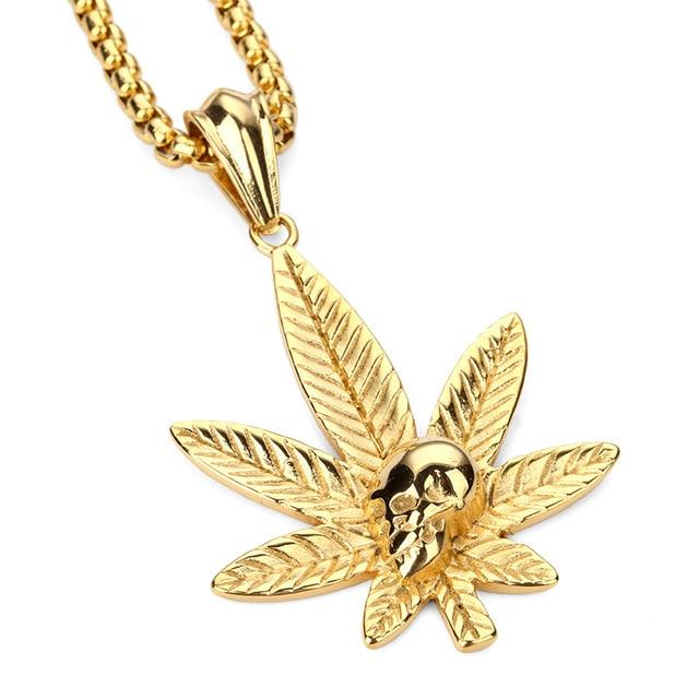 Men women golden hemp leaf ghost pendants weed herb chains hip hop men women golden hemp leaf ghost pendants weed herb chains hip hop bling jamaica esserteauiana jewelry aloadofball Images