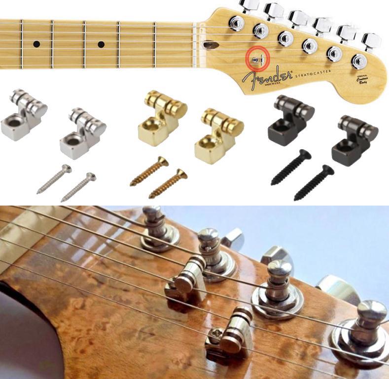 6 Stück Elektrische Gitarre Roller Saiten Bäume Halter Gitarre Teile Accs 3