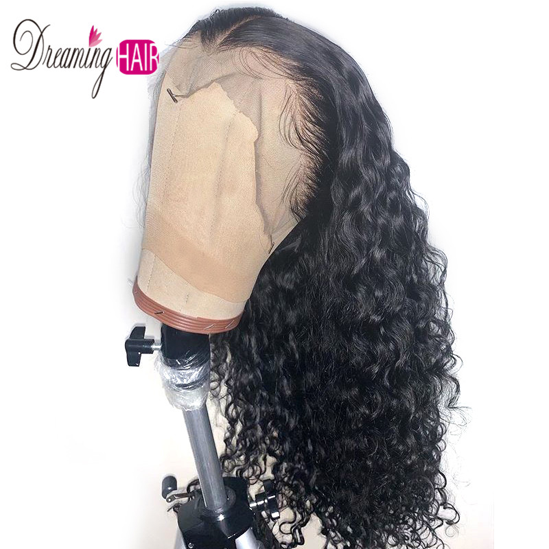 150% 13x6 Malaysian Deep Wave Short Bob Lace Front Human Hair Wigs Afro Kinky Curly Frontal Wig Water Wave For Black Women