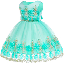 Baby girl Flower Lace dress Kids Baby Girls birthday Vestido girls 1st birthday dress party princess dress baby girl clothes